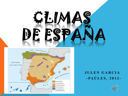 Los climas de España (Julen García)