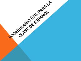 Vocabulario Útil para la clase de español