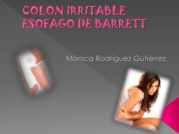 colon irritable esofago de barrett cancer de estomago
