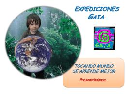 Como nació GAIA - wikigaiaexpediciones