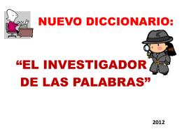 Diccionario *El Curioso* - Elinvestigador-diccionario
