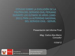 Alza - Evolucion reformas SC 1980-2011