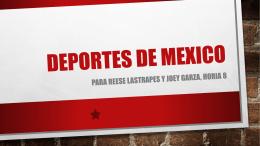 Deportes de mexico