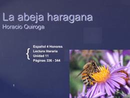 La abeja haragana Horacio Quiroga