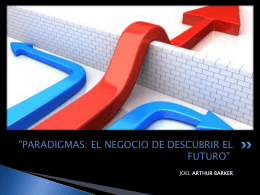 """""""PARADIGMAS: EL NEGOCIO DE DESCUBRIR"""