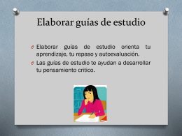 Elaborar guías de estudio