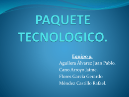 Paquete Tecnológico