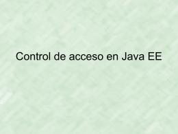 Control de acceso en Java EE
