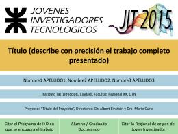 Exposición Oral - UTN Facultad Regional Venado Tuerto