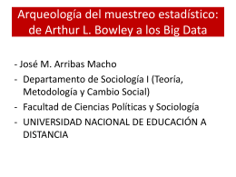 Arqueología del muestreo estadístico: de Arthur L. Bowley a los Big