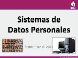 No son Sistemas de Datos Personales