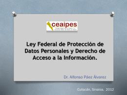 La protección constitucional de los datos personales