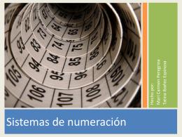 sistema de numeracion
