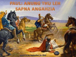 Anung Thu. Paul in kua hiam?
