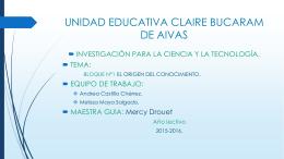 UNIDAD EDUCATIVA CLAIRE BUCARAM DE AIVAS