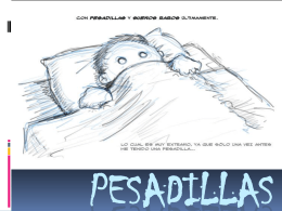 PESADILLAS - psicopatologiaupch