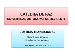 Justicia Transicional - Universidad Autónoma de Occidente