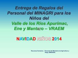 VRAEM NAVIDAD NIÑOS 2014 - Ministerio de Agricultura