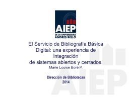 El Servicio de Bibliografía Básica Digital: una