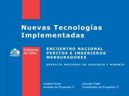 06- Nuevas tecnologías implementadas en Sernageomin
