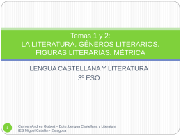 Temas 1-2 Géneros literarios. Figuras. Métrica