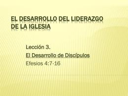 El Desarrollo del Liderazgo de la Iglesia