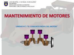 """""""el conjunto movil del motor"""" mantenimiento de"""