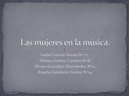 Las mujeres en la música.