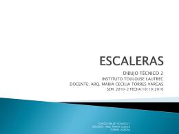 ESCALERAS - Dibujo Tecnico I 2014-I