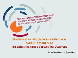 Presentación PPT sobre los Principios Sindicales de Eficacia del