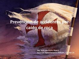Prevención de accidentes por caído de roca