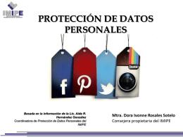 Protección de Datos Personales (Dora Ivonne Rosales Sotelo IMIPE)