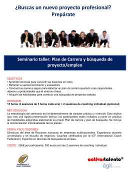 ¿Buscas un nuevo proyecto profesional? Prepárate