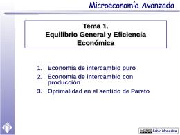 1. Economía de intercambio puro 1.1. La caja de Edgeworth