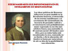 personalidades que influenciaron en el pensamiento de simon bolivar