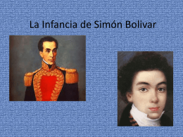 La Infancia de Simon Bolivar