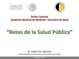 Dr. Pablo Kuri Morales - Academia Nacional de Medicina