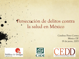Persecución de delitos contra la salud en México