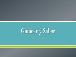 Conocer y Saber - Español con la Sra. Salas