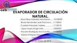 EVAPORADOR DE Circulación NATURAL.