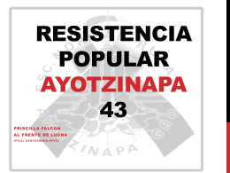 Resistencia Popular Ayotzinapa 43