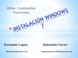 Instalacion De Windows 7 ESNAYDER- SEBASTIAN