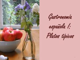 Presentación I. Platos típicos españoles