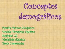 Conceptos demograficos.