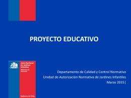 Proyecto Educativo - Servicio Bienestar Armada