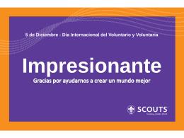 5 de Diciembre - Día Internacional del Voluntario y Voluntaria