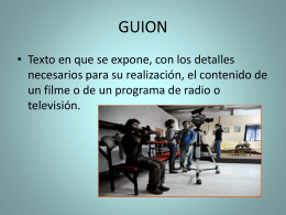 TEMA 4. GUION DE TV