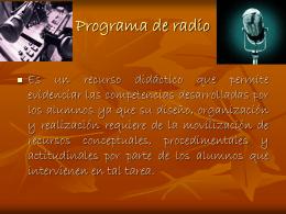 El guión radiofónico