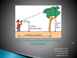 El goniómetro y la Medición de alturas Inalcanzables