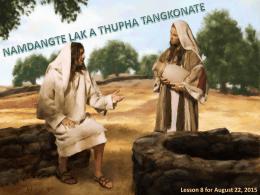 Jesu a zong Greek Mite (John 12:20-32).